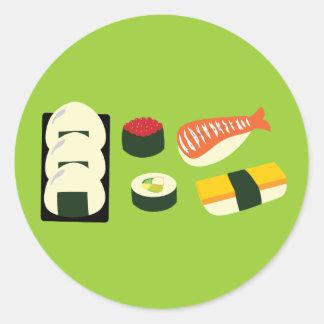 Sushi Fun Classic Round Sticker