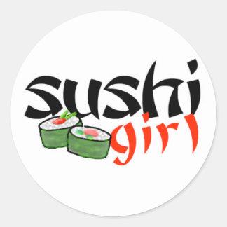 Sushi Girl stickers