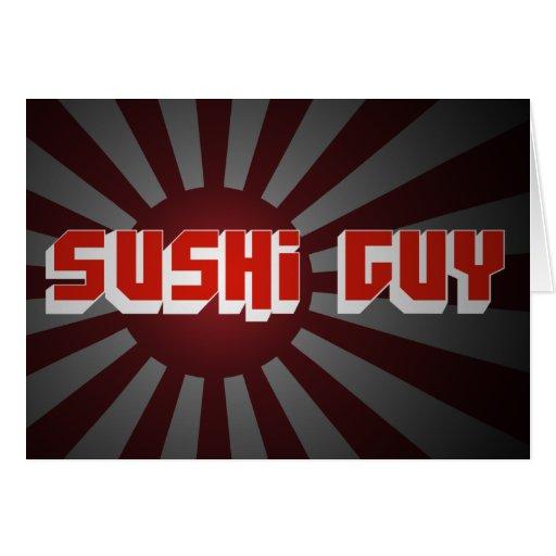 Sushi Guy 2 Greeting Card