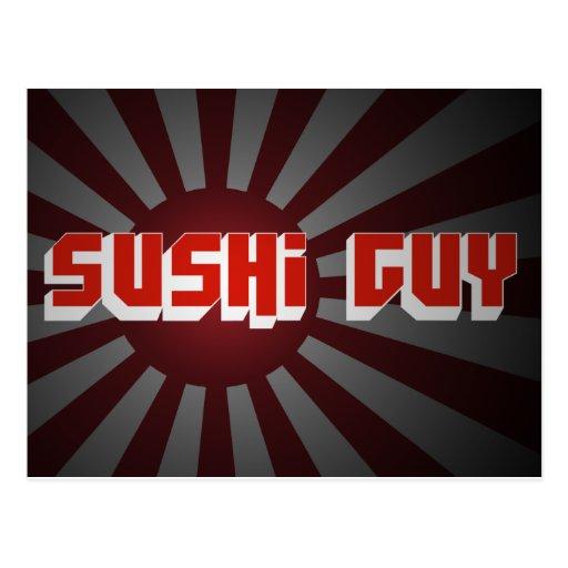 Sushi Guy 2 Post Cards