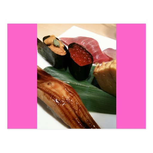 Sushi in Japan Postcard