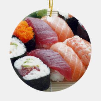 Sushi Japanese Asian Food Raw Sashimi Fresh Roll Christmas Ornament