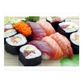 Sushi Japanese Asian Food Raw Sashimi Fresh Roll Postcard