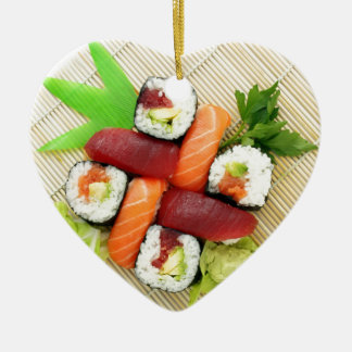 Sushi Japanese Delicious Asian Food Yummy Christmas Ornament