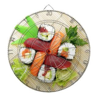 Sushi Japanese Delicious Asian Food Yummy Dartboard