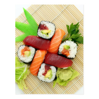 Sushi Japanese Delicious Asian Food Yummy Postcard