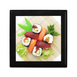 Sushi Japanese Delicious Asian Food Yummy Small Square Gift Box