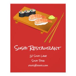Sushi Japanese food restaurant Flyer