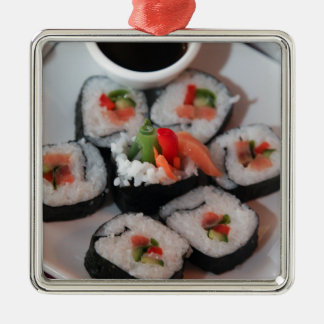 Sushi Japanese Restaurant Sauce Christmas Ornament