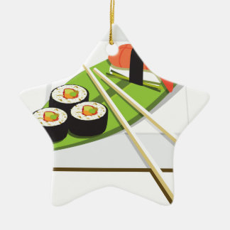 Sushi Meal Christmas Ornament