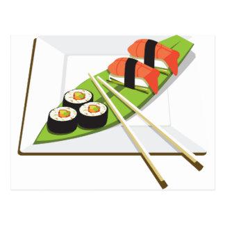 Sushi Meal Postcard