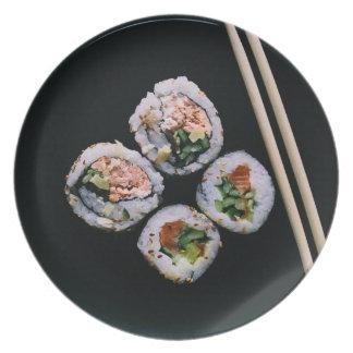 Sushi melamine plate