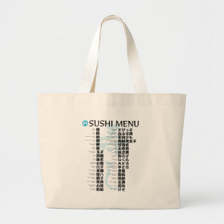 Sushi menu-Jpanese Large Tote Bag