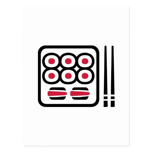 Sushi menu postcard