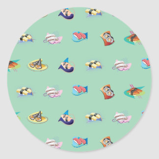 sushi mint sticker