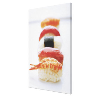 Sushi, Nigiri, close-up Canvas Print