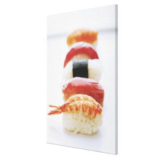 Sushi, Nigiri, close-up Canvas Print