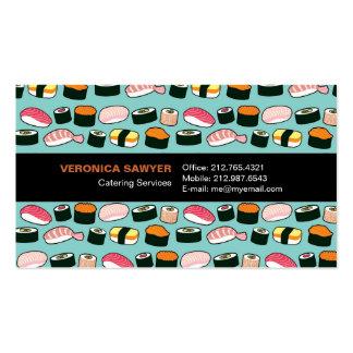 Sushi Oishii (Blue) Chef / Caterer Business Card