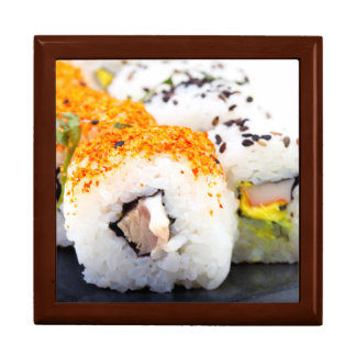 Sushi on a plate large square gift box