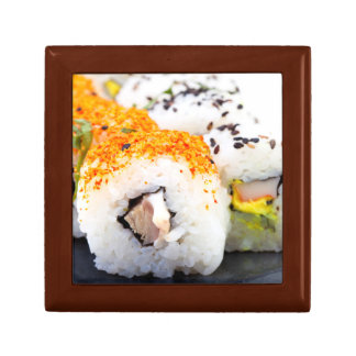 Sushi on a plate small square gift box