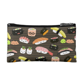 Sushi Party - Fun Kawaii Sushi Pattern Makeup Bag