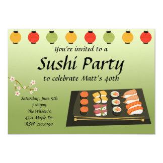 Sushi Party Invitation