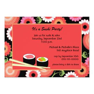 "Sushi Party Invitation 5"" X 7"" Invitation Card"