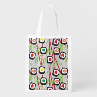 Sushi Pattern Reusable Grocery Bag