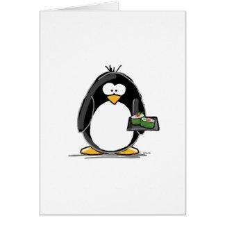 Sushi Penguin Card
