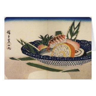sushi plate art card