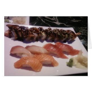 Sushi Platter Card