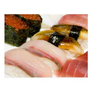 Sushi. Postcard