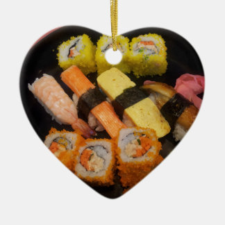 Sushi Raw Food Japanese Meal Delicious Serving Christmas Ornament