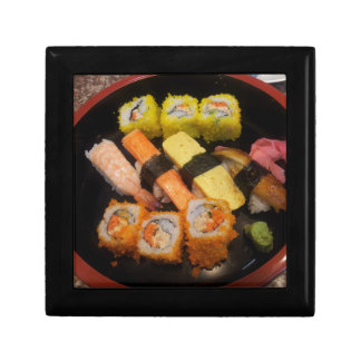 Sushi Raw Food Japanese Meal Delicious Serving Small Square Gift Box