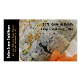 Sushi Restaurant California Rolls Pack Of Standard Business Cards