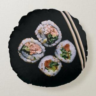 Sushi reversible throw pillow