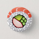Sushi Roll 3 Cm Round Badge