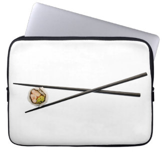 Sushi Roll & Chopsticks - Customized Template Laptop Sleeve