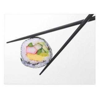 Sushi Roll & Chopsticks - Customized Template Notepad