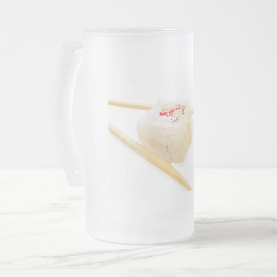 sushi roll frosted glass beer mug
