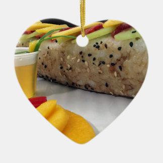 Sushi Roll Sushi Mango Rice Japanese Food Asian Christmas Ornament