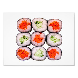 Sushi Rolls Japanese Food Template Photo Print