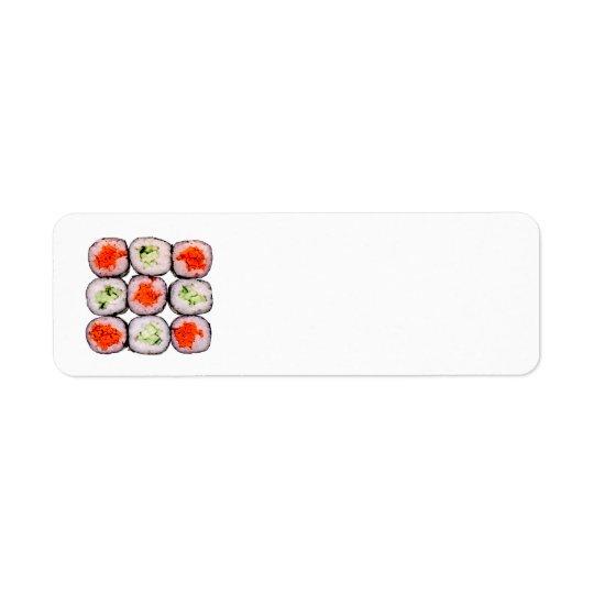 Sushi Rolls Japanese Food Template Return Address Label