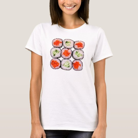Sushi Rolls Japanese Food Template T-Shirt