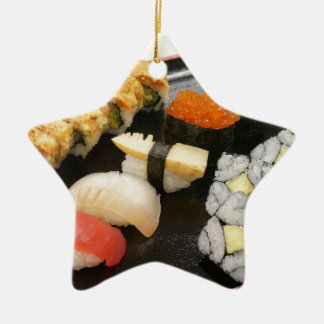 Sushi Rolls Sesame Ginger Wasabi Japan Kitchen Christmas Ornament
