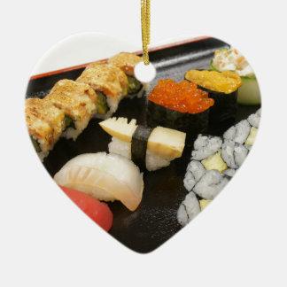 Sushi Rolls Sesame Ginger Wasabi Japan Kitchen Christmas Ornament