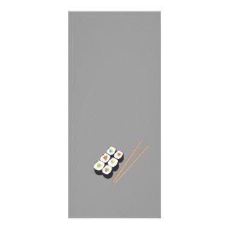 Sushi rolls with chopsticks 10 cm x 23 cm rack card