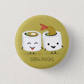 Sushi Siblings 3 Cm Round Badge