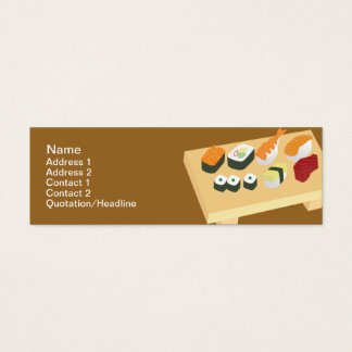 Sushi - Skinny Mini Business Card