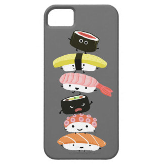 Sushi Stack - A Kawaii Tower of Sushi Characters iPhone 5 Cover